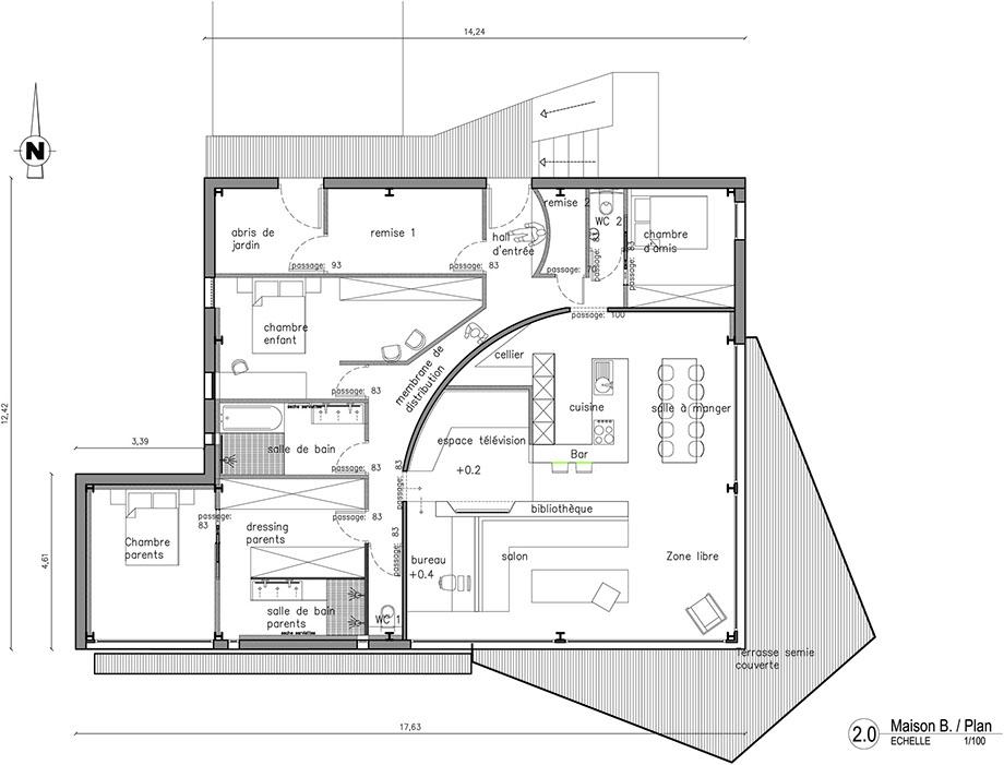 Plan Maison Structure Metallique Ossature Mtallique Ossature